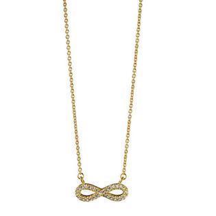 Mitos Infinity Forgyldt sølv med zirkonia halskæde med vedhæng blank 1c4cab09ee922