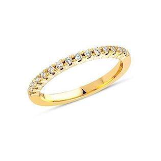 Nuran 14 karat alliance ring med 0,24 carat brillant