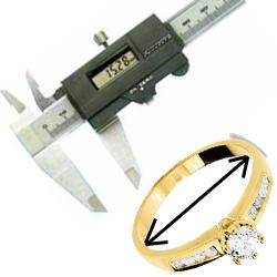 Find dit ringmål med en skydelære - se hvordan på Guldsmykket.dk