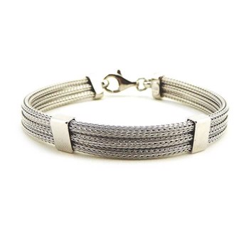 San - Link of joy Soft Foxtail Silver Design 925 sterling sølv armbånd blank, model 83205
