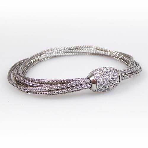 San - Link of joy  925 sterling sølv Armbånd rhodinerede kæder, model 87405a