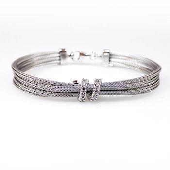 San - Link of joy Soft Foxtail Silver Design 925 sterling sølv armbånd rhodineret, model 1901-97405-A-19