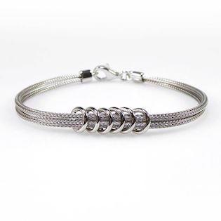 San - Link of joy Soft Foxtail Silver design 925 sterling sølv armbånd blank, model 97605