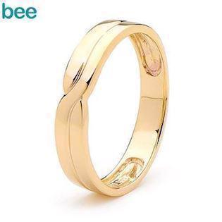 Bee Jewelry Gents Plait 9 kt guld Fingerring blank, model 45355