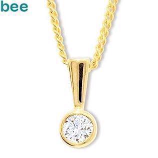 Bee Jewelry Solitaire 0,15 ct H-SI 9 karat vedhæng blank, model 60560_A15