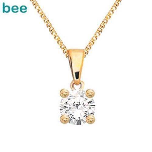 Bee Jewelry Solitaire 0,05 ct H-SI 9 karat vedhæng blank, model 60985_A05