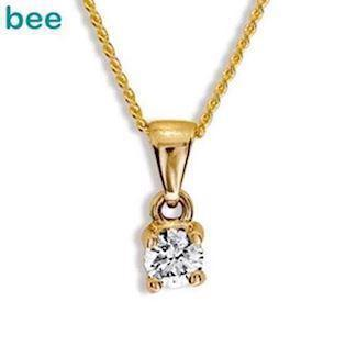 Bee Jewelry Solitaire 0,15 ct H-SI 9 karat vedhæng blank, model 60985_A15