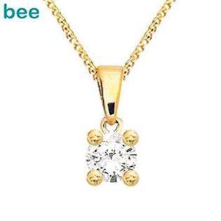 Bee Jewelry Solitaire 0,20 ct H-SI 9 karat vedhæng blank, model 60985_A20