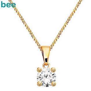 Bee Jewelry Solitaire 0,10 ct I-P1 9 karat vedhæng blank, model 60985_B10