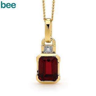 Bee Jewelry Ruby and Diamond 9 kt guld collier blank, model 64659-CR
