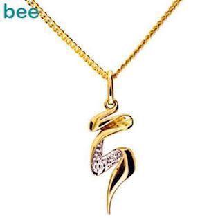 Bee Jewelry Gold Ribbon 9 kt guld collier blank, model 65098