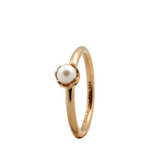 Christina Collect forgyldt samle ring - Pearl Flower med perle