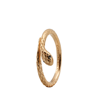 Christina Collect forgyldt samle ring - Diamond Snake