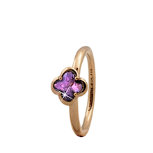 Christina Collect forgyldt samle ring - Amethyst Flower