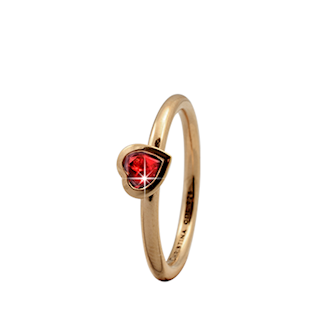 Christina Collect forgyldt samle ring - Garnet Heart