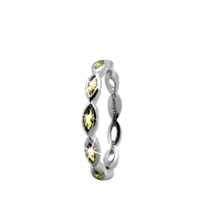 Christina Collect samle s�lvring - Eternity Peridot