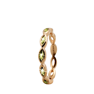 Christina Collect forgyldt samle ring - Eternity Peridot