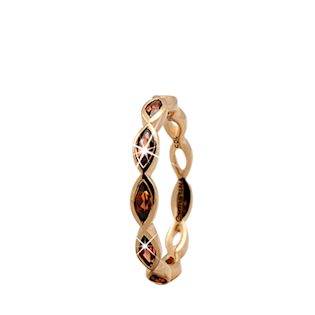 Christina Collect forgyldt samle ring - Eternity Garnet
