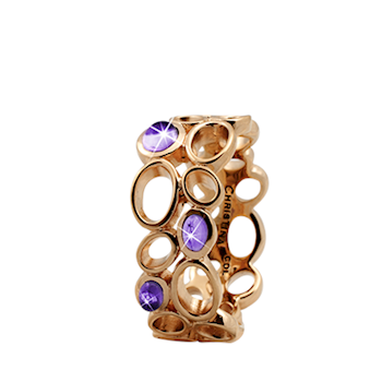 Christina Collect forgyldt samle ring - Big Amethyst Bubbles
