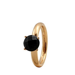 Christina Collect forgyldt samle ring - Black Onyx
