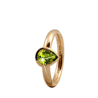 Christina Collect forgyldt ring - Peridot Pearl
