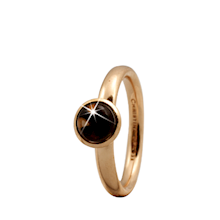 Christina Collect forgyldt samle ring - Round Smokey Quartz