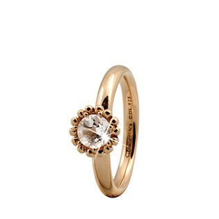 Christina Collect forgyldt samle ring - Crystal Flower