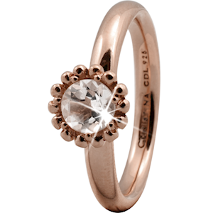Christina Collect rosa forgyldt samle ring - Crystal Flower*