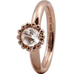 Christina Collect rosa forgyldt samle ring - Crystal Flower