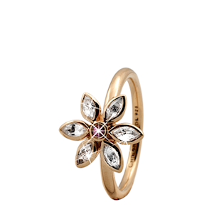 Christina Collect forgyldt samle ring - Marquise Flower