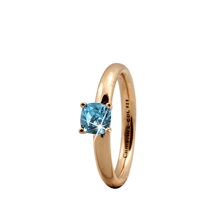 Christina Collect forgyldt samle ring - Sky Topaz