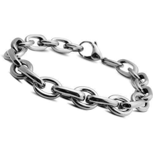 73930101bd1 Stål lænke armbånd fra Christina, 21 cm køb det billigst hos Guldsmykket.dk  her ...