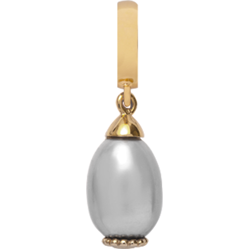 Forgyldt Grey Pearl Dream charm fra Christina Collect