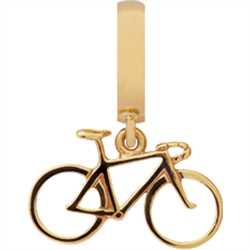 Forgyldt Racing Bike charm fra Christina Collect