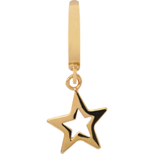 Forgyldt Star charm fra Christina Design London