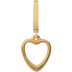 Forgyldt Big Heart charm fra Christina Design London