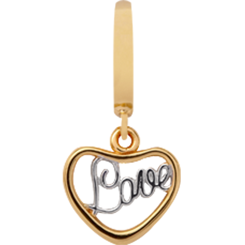 Forgyldt Love charm fra Christina Collect