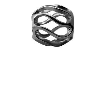 Christina Collect twist Sort s�lv tubes / ring