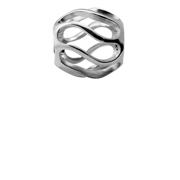 Christina Collect twist s�lv tubes / ring