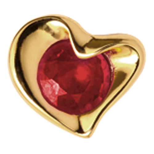650-G02Ruby , Christina Collect Ruby Heart rings