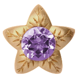 650-G05 , Christina Design London Amethyst Flower rings