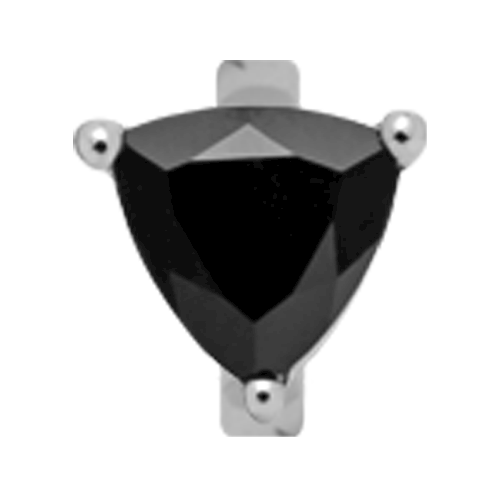 650-S09Black , Christina Design London Trekantet sort Onyx rings