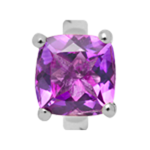 650-S10Amethystp , Christina Collect kvadratisk Amathyst rings