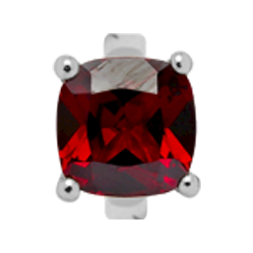 650-S10Garnet , Christina Collect Kvadratisk Granat rings