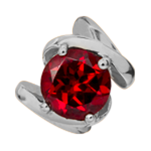 650-S11Garnet , Christina Design London rund Granat rings