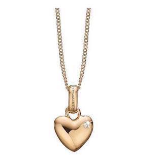 347632f6029 Christina forgyldt sølv Big Love Buttet hjerte med 2 hvide topaz, model  680-G01