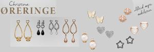 Christina romantiske sølv og forgyldte øreringe og ørestikker