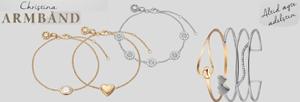 Christina sølv armbånd og armringe i sølv eller forgyldt