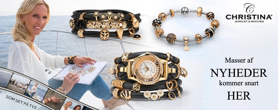 Se de sidste nyheder fra Christina's lækre smykke og ure design her