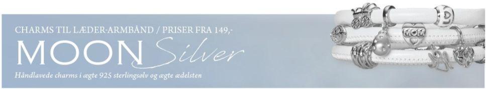 Christina's sølv charms til dit Italienske læderarmbånd - skab dit helt eget smykke